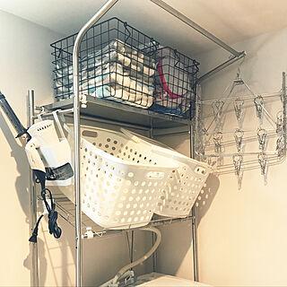 女性家族暮らし2LDK、洗濯機の上に関するtakutotoさんの実例写真