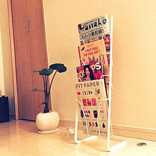 男性33歳の一人暮らし1K、マガジンスタンドに関するYuya_Funabaさんの実例写真