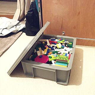 棚/レゴ収納/おもちゃ収納/業務用/コンテナボックス...などのインテリア実例 - 2015-11-17 08:25:16