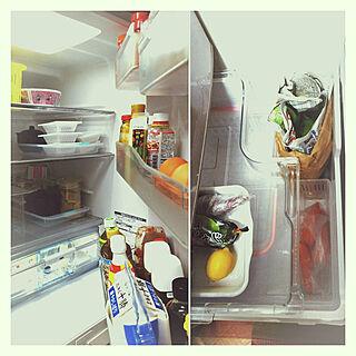 キッチン/片づけ/納豆好き♡/冷蔵庫整理/冷蔵庫掃除中のインテリア実例 - 2020-02-11 10:25:19