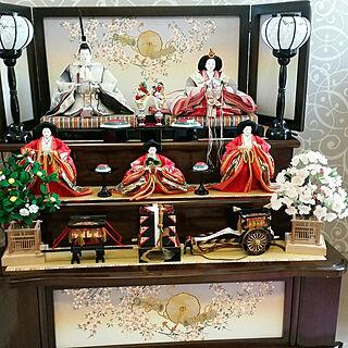 ひな祭り/おひなさま/3段飾りのインテリア実例 - 2019-02-25 00:11:28