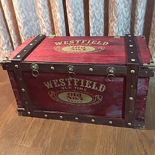 男性50歳の家族暮らし、りんご箱リメイクに関するwestfieldさんの実例写真