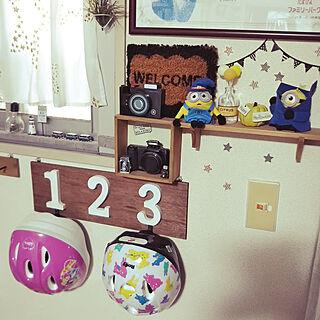 女性家族暮らし2LDK、ヘルメットに関するYurieさんの実例写真