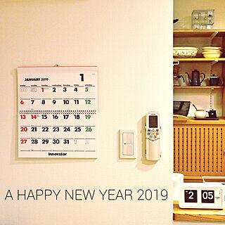 壁/天井/カレンダー/innovator/TWEMCO/シンプル...などのインテリア実例 - 2019-01-02 08:48:37
