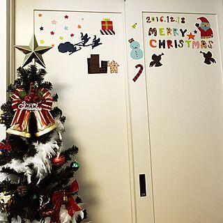 リビング/マスキングテープ/サンタクロース/クリスマス/欧米...などのインテリア実例 - 2016-12-18 10:30:57