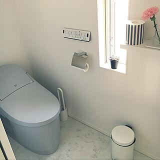 バス/トイレ/IKEA/フチレス/ブルーグレー/ベーシアハーモLタイプ...などのインテリア実例 - 2018-01-16 18:39:22