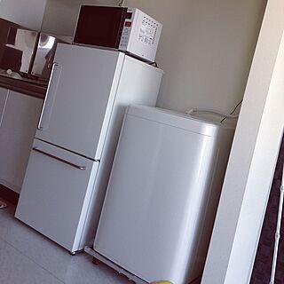 洗濯機/冷蔵庫/初めての一人暮らし/一人暮らし/1R...などのインテリア実例 - 2016-03-22 15:05:05