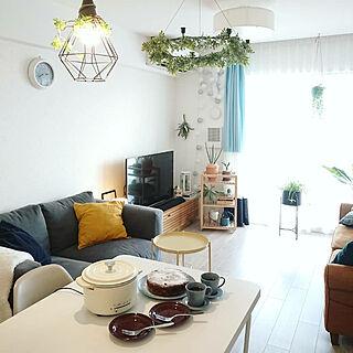 部屋全体/IKEA/グリーンのある暮らし/サンゲツのカーテン/マンション...などのインテリア実例 - 2019-10-02 21:51:57