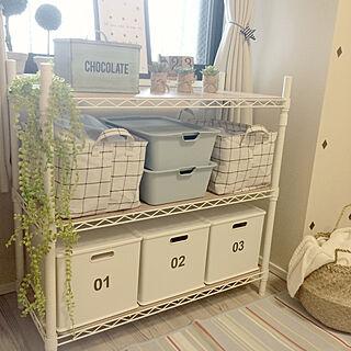 女性家族暮らし3LDK、山善フタなし収納ボックスに関するkiyoさんの実例写真