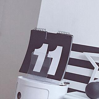 モノトーン/モノトーン雑貨/モノトーンインテリア好き/シンプル好き/模様替え...などのインテリア実例 - 2019-04-13 17:20:16