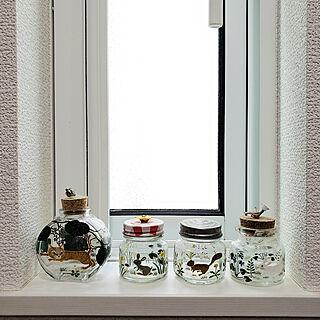 キッチン/ガラス雑貨/noon/小瓶/小窓のインテリア実例 - 2020-08-25 10:06:06