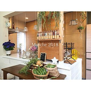 キッチン/na-chan farm/na-chanありがとう❤/カフェ風/IKEAワードローブを食器棚に改造...などのインテリア実例 - 2018-05-19 18:07:45