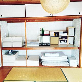 女性3LDK、ベニア板 無印良品ベッド下収納ボックスに関するniko3さんの実例写真