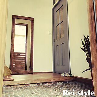 女性39歳の、造作玄関ドアに関するreiさんの実例写真