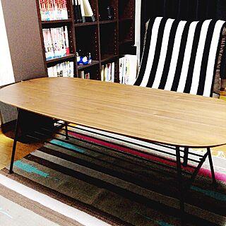 女性の、1R、家族住まいの「机」についてのインテリア実例