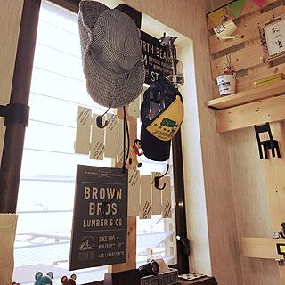 女性40歳の家族暮らし4LDK、帽子収納に関するeikoさんの実例写真