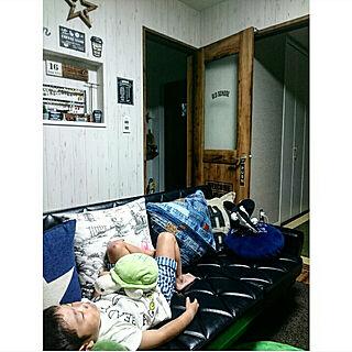 女性37歳の家族暮らし4LDK、クッションチェアに関するnyankoさんの実例写真