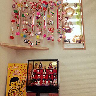 玄関/入り口/手作り/吊るし雛/さげもん/ひな祭り...などのインテリア実例 - 2015-03-03 08:08:27