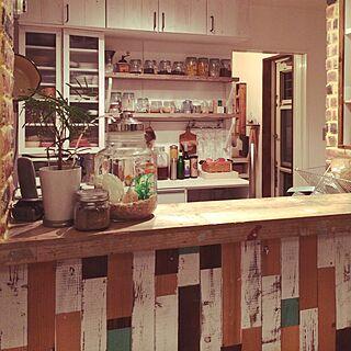 キッチン/ブリックレンガ/アクアリウム/金魚/貝殻...などのインテリア実例 - 2015-08-02 21:41:00