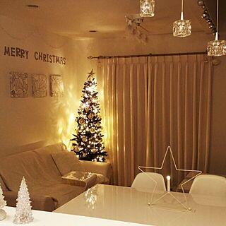 女性34歳の家族暮らし4LDK、christmas treeに関するluv.white___さんの実例写真