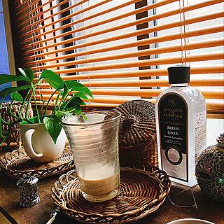 女性53歳の一人暮らし2LDK、苔玉に関するTomoko.kさんの実例写真