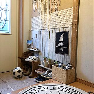 女性家族暮らし4LDK、ベニヤ板に関するchii-soccerさんの実例写真
