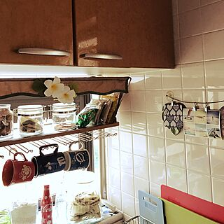 キッチン/KALDI/ジャスミン茶/プルメリア/二世帯住宅の二階...などのインテリア実例 - 2017-03-31 08:55:05