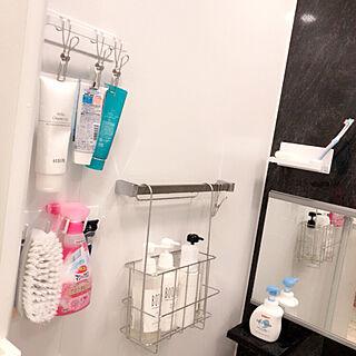 女性28歳の家族暮らし3LDK、お風呂収納に関するkazさんの実例写真