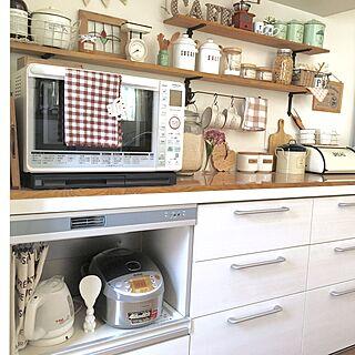 女性39歳の家族暮らし3LDK、電気オーブンに関するmakochi.mさんの実例写真