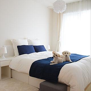 ベッド周り/模様替え/ベッドカバー/IKEA/寝室...などのインテリア実例 - 2018-09-29 23:24:25