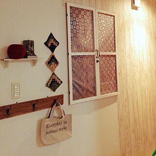 女性家族暮らし、雨の日はモチーフ編みに関するrinsさんの実例写真