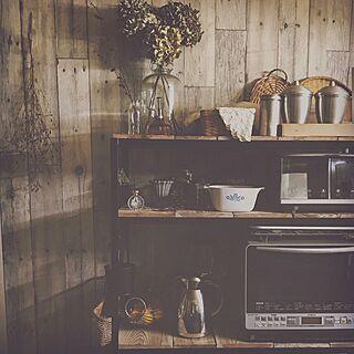 キッチン/アンティーク/レトロ/ドライフラワー/DIY...などのインテリア実例 - 2017-02-25 21:13:55
