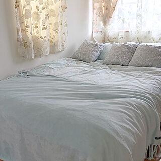 ベッドリネン/寝室/ニトリ/SPARA/スパラ...などのインテリア実例 - 2019-04-23 16:36:58