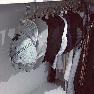 yocchan ちゃんすぺしゃるさんくす/MAWAハンガー/キャップ/帽子/収納...などのインテリア実例 - 2019-05-17 19:02:19