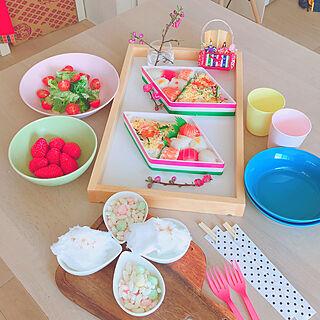 ダイニングテーブル/女の子の部屋/ホームパーティー/ゆめかわいい/おうち時間...などのインテリア実例 - 2020-03-25 07:53:18