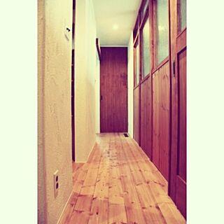 玄関/入り口/室内窓/造作窓/造作ドア/漆喰壁...などのインテリア実例 - 2014-06-06 09:11:16