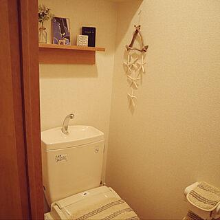 女性28歳の一人暮らし1K、トイレのディスプレイに関するNanakoさんの実例写真