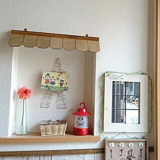 女性39歳の家族暮らし4LDK、ワイヤーアート 玄関に関するyuu.hさんの実例写真
