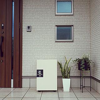玄関/入り口/宅配ボックス/ニトリ/観葉植物/今日は雨...などのインテリア実例 - 2019-04-24 21:00:06