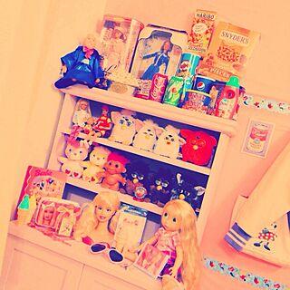 棚/おもちゃ部屋/おもちゃスペース/外国の子供の部屋風/子供部屋...などのインテリア実例 - 2014-01-17 17:09:06