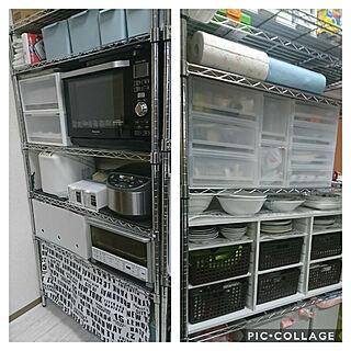キッチン/セリア/メタルラック/カラーボックス/食器棚...などのインテリア実例 - 2018-11-27 13:31:18