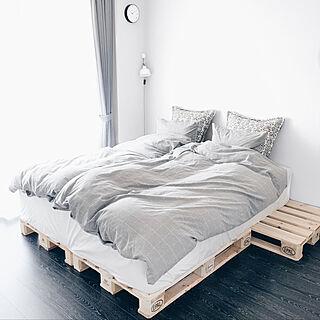 すのこベッド/パレットベッド/木製パレット/ユーロパレット/パレット...などのインテリア実例 - 2019-03-13 23:28:39
