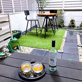 裏庭にて/庭/白ワイン/アサヒワイン/家飲み...などのインテリア実例 - 2019-05-01 13:13:30