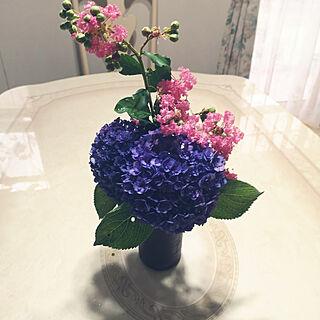机/お花/庭/夏の花/お花のある暮らし...などのインテリア実例 - 2019-09-03 08:22:07