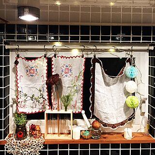 キッチン/イケアのキッチン/イケア 照明/デコ窓/ペーパーフラワーボール...などのインテリア実例 - 2016-12-13 21:03:20
