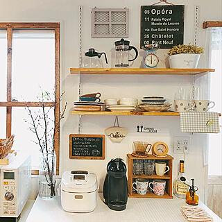 棚/カウンター/カフェスペース/カフェコーナー/Instagram→usagi_home...などのインテリア実例 - 2018-02-25 08:42:42