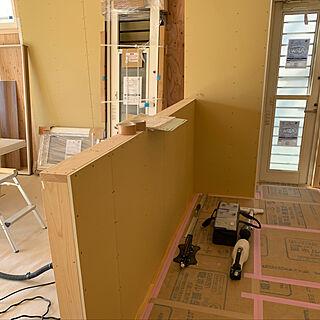 女性35歳の家族暮らし、無垢のキッチンに関するsuzumushiさんの実例写真