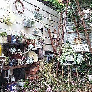 女性家族暮らし4LDK、ベッド周りじゃなく庭です♪に関するmai.tameさんの実例写真