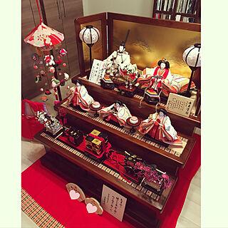 棚/母の手作り/さげもん/ひな祭り/両親からの贈り物のインテリア実例 - 2018-02-16 15:54:45