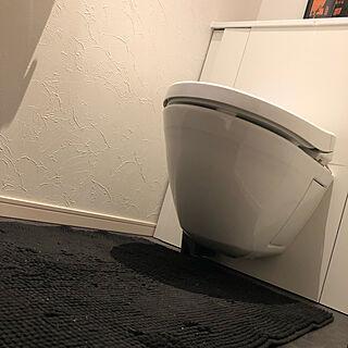 ホワイトクロス/床だけは黒/お掃除簡単/浮いてるトイレ/レストパル...などのインテリア実例 - 2019-09-24 22:57:02